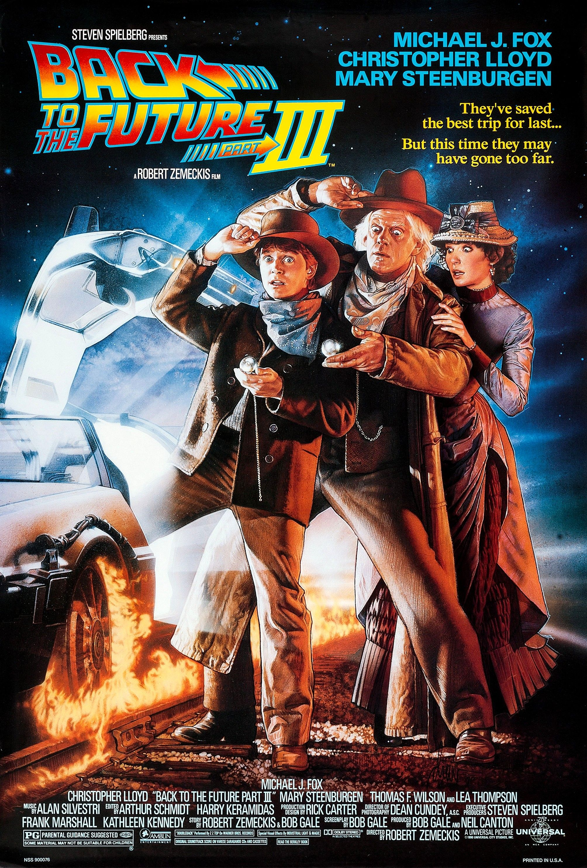 """Back to the Future III"" directed by Robert Zemeckis - 1990"