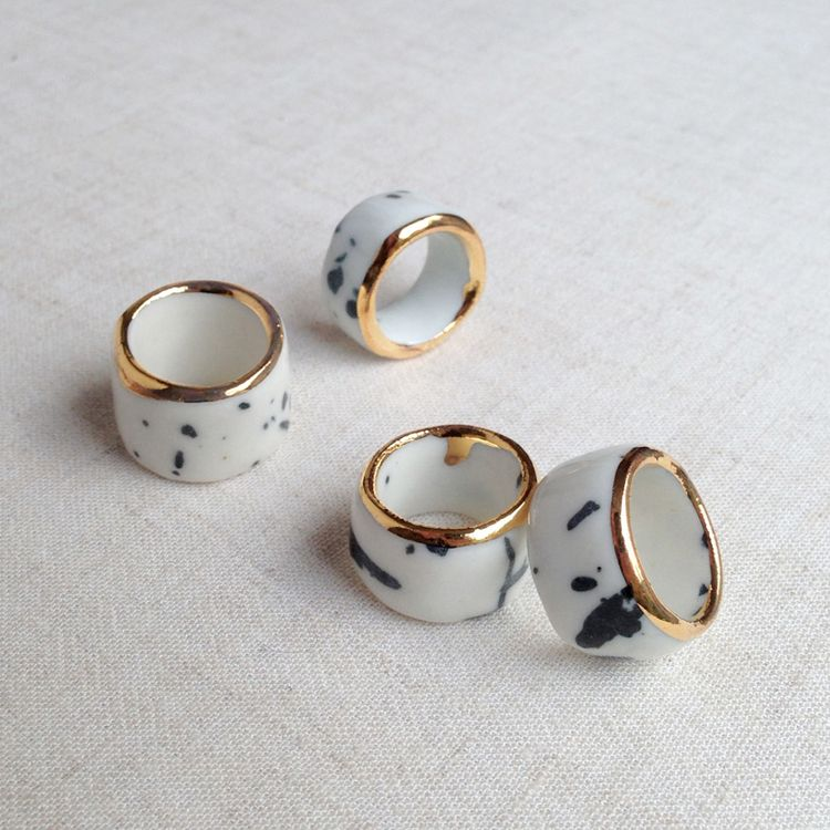 Falling for florin – porcelain bling-rings