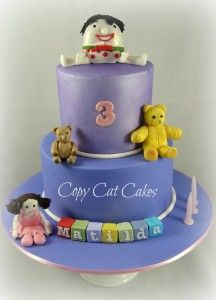 Childrens Cakes 2 tier Playschool theme Ideas Pinterest Cake