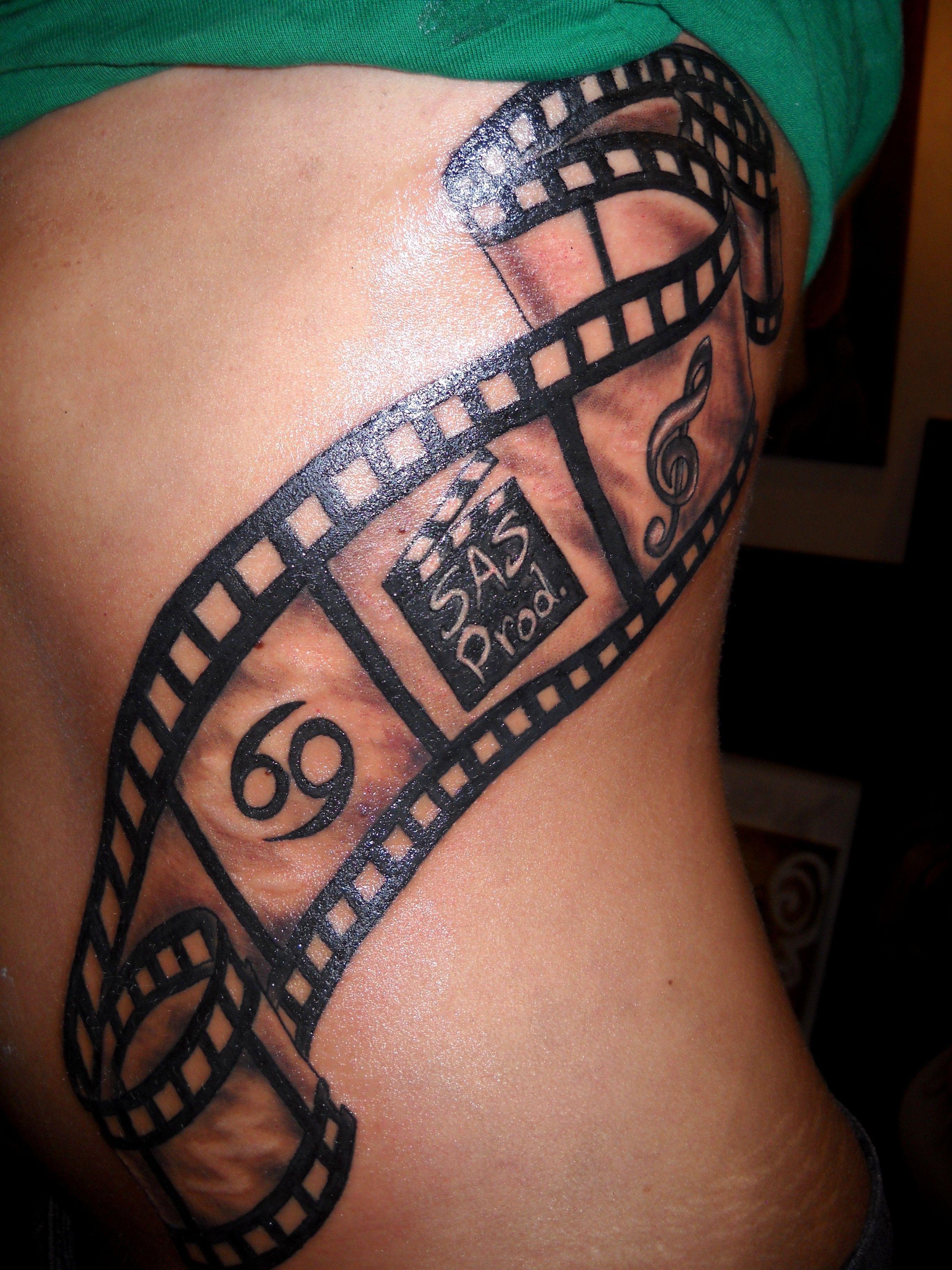 Camera Film Strip Tattoo Design Camera Tattoos Tattoos Movie