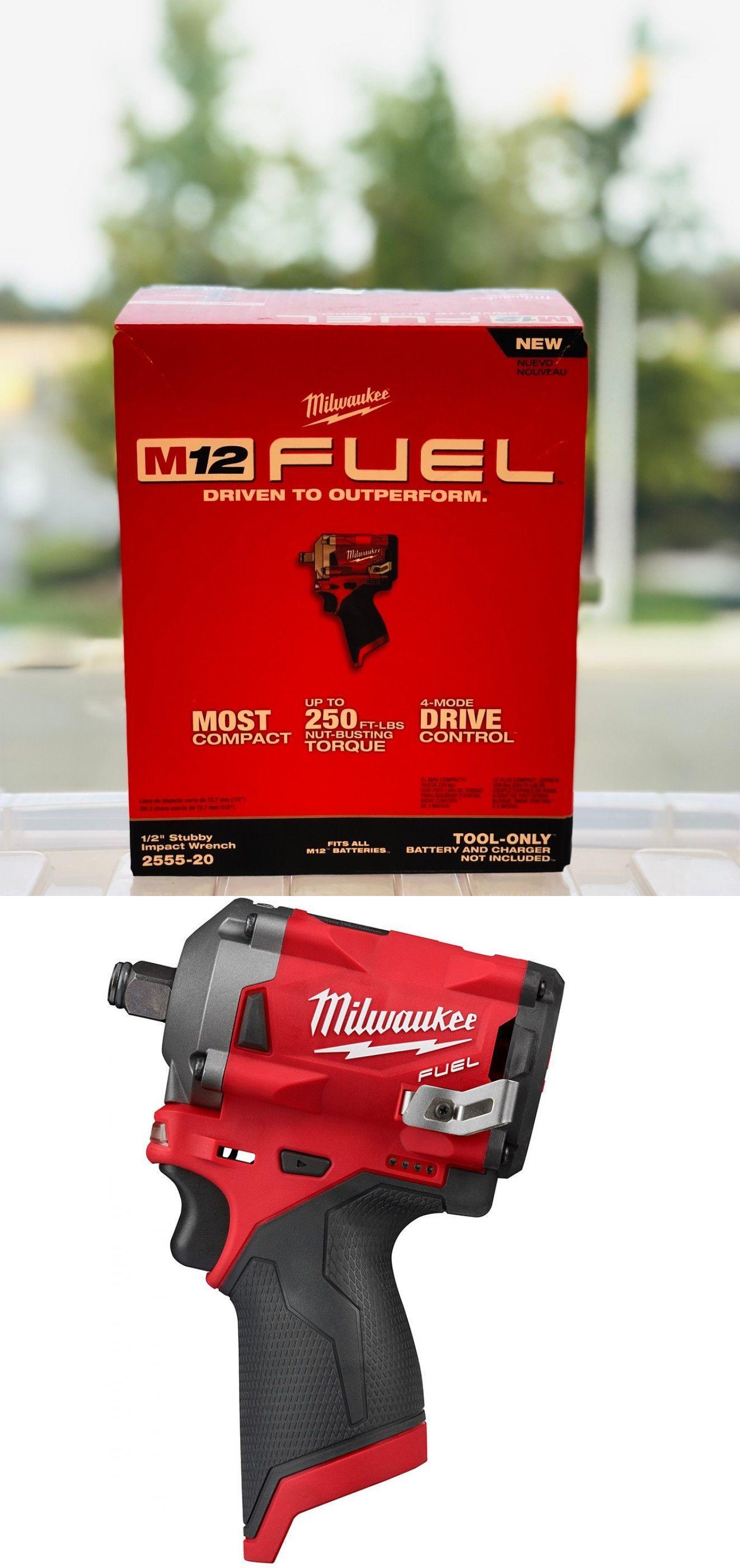Milwaukee 2555 20 M12 Fuel 12v Brushless 1 2 Dr Cordless Impact Driver Stubby Impact Driver Impact Drivers Milwaukee M12