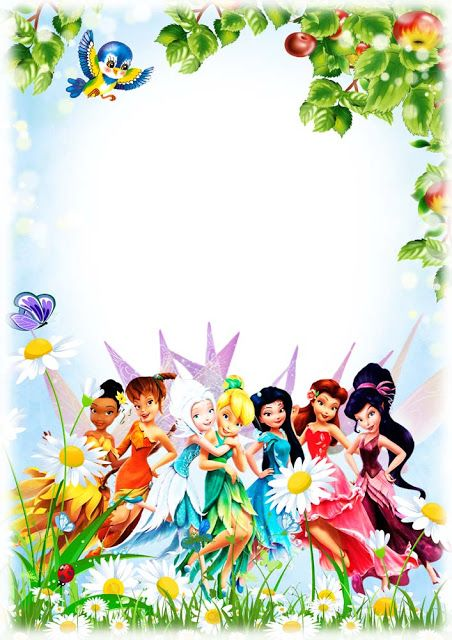 Frame For Kids Tinkerbell And Friends Photo Frames For Kids Tinkerbell Invitations