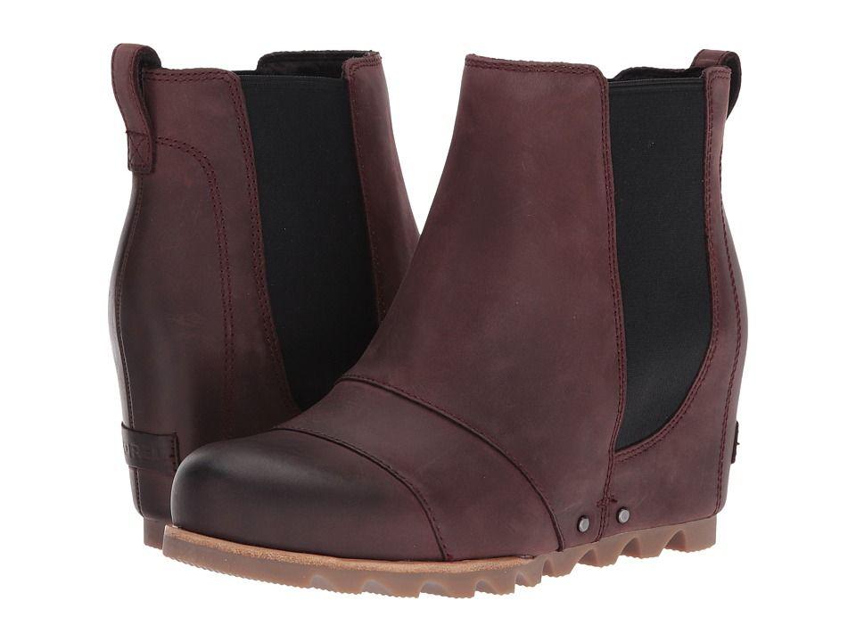 bdde4029c489 SOREL Lea Wedge Women s Waterproof Boots Redwood Black