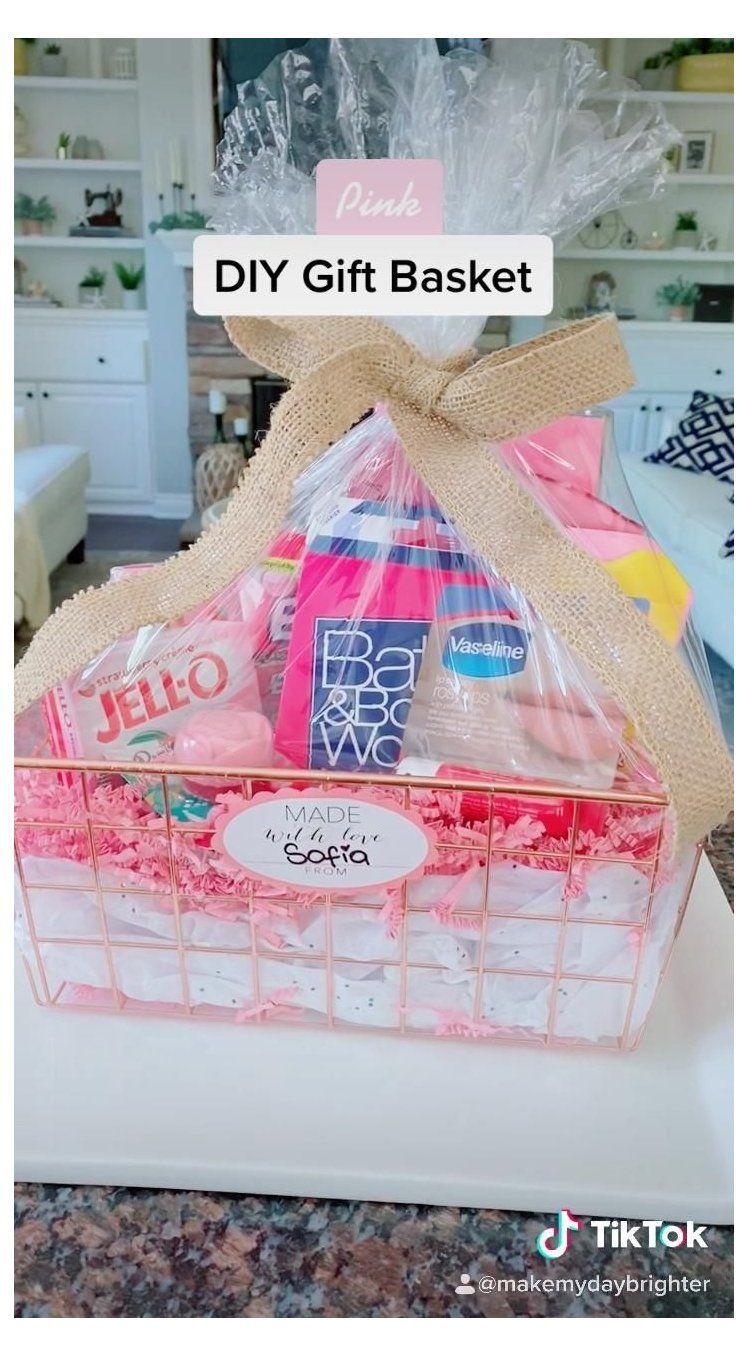 Diy Gift Basket Birthday Basket For Sister Birthdaybasketforsister In 2021 Bff Birthday Gift Diy Gifts 25th Birthday Gifts