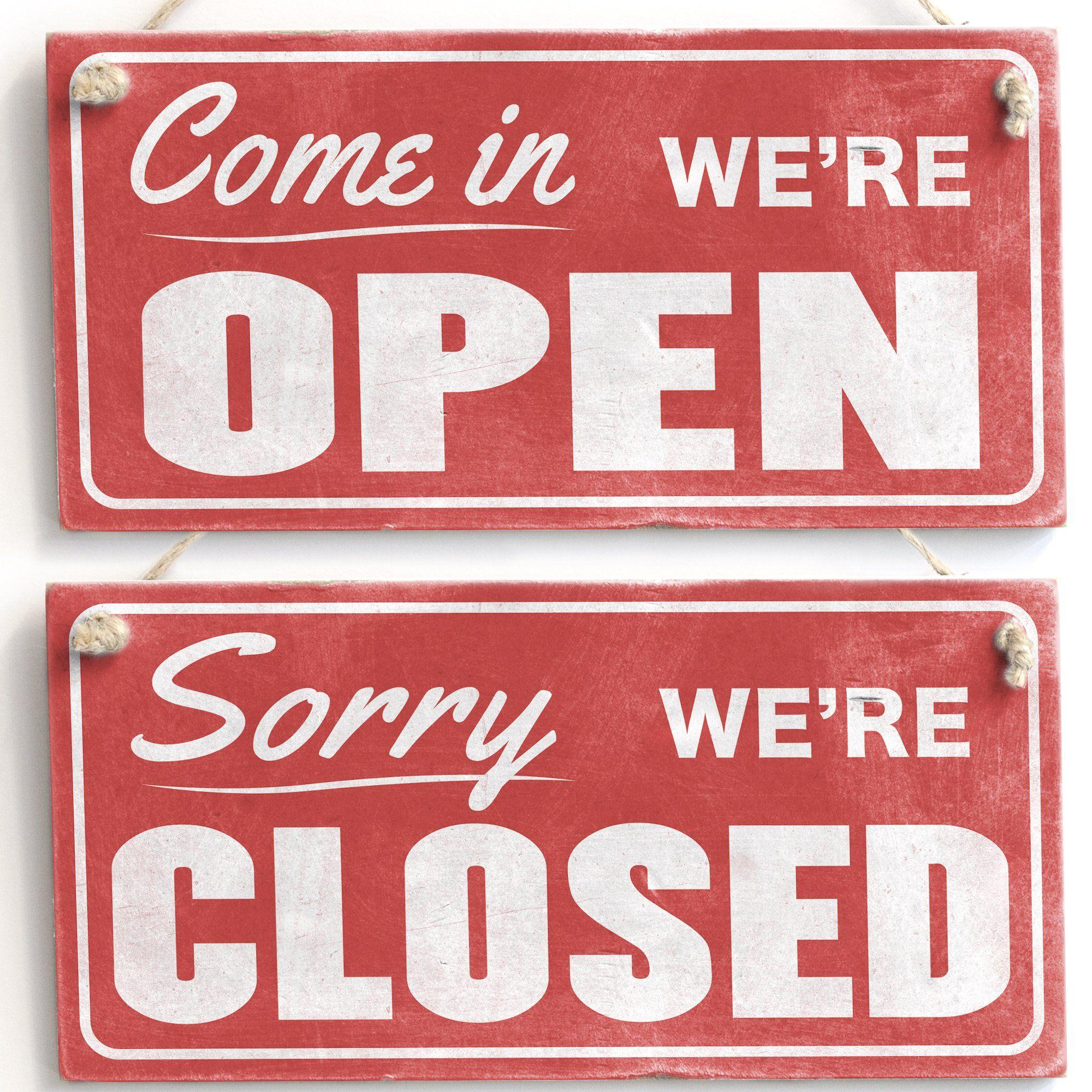Come In We Re Open Sorry We Re Closed Retro Handmade Wood Door Kitchen Sign Amazon Co Uk Kitchen Home Sign Writing Kitchen Signs Open Closed Signs