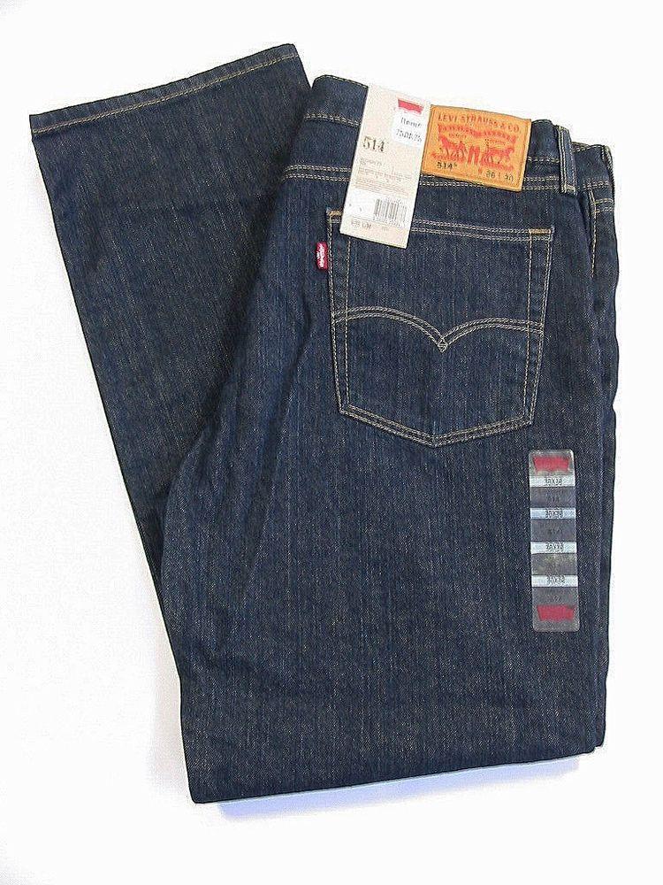 Levi Strauss 514 Mens Jeans Straight Fit Dark Blue Denim Size 36 X 30 Nwt Levis Classicstraightleg Mens Jeans Levis 514 Jeans Denim Jeans Men