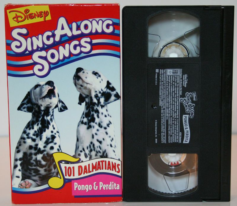 Sing Along Songs 101 Dalmatians Pongo And Perdita Kids Vhs -3056