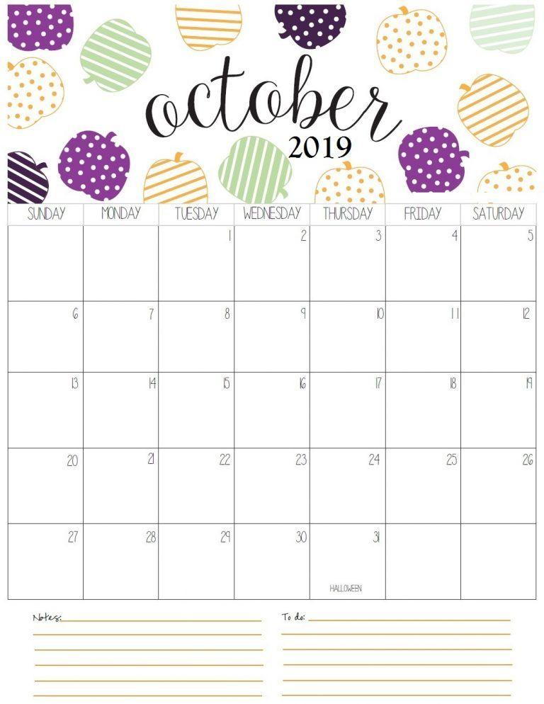 Monthly Printable With Images October Calendar October