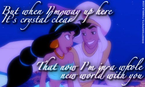 Aladdin Quote A Whole New World Love Playing This Song On The Piano I