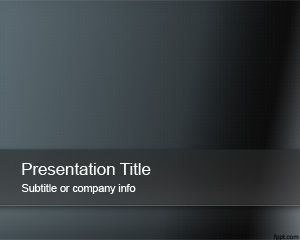 This Free Dark Abstract Powerpoint Template Is A Simple But