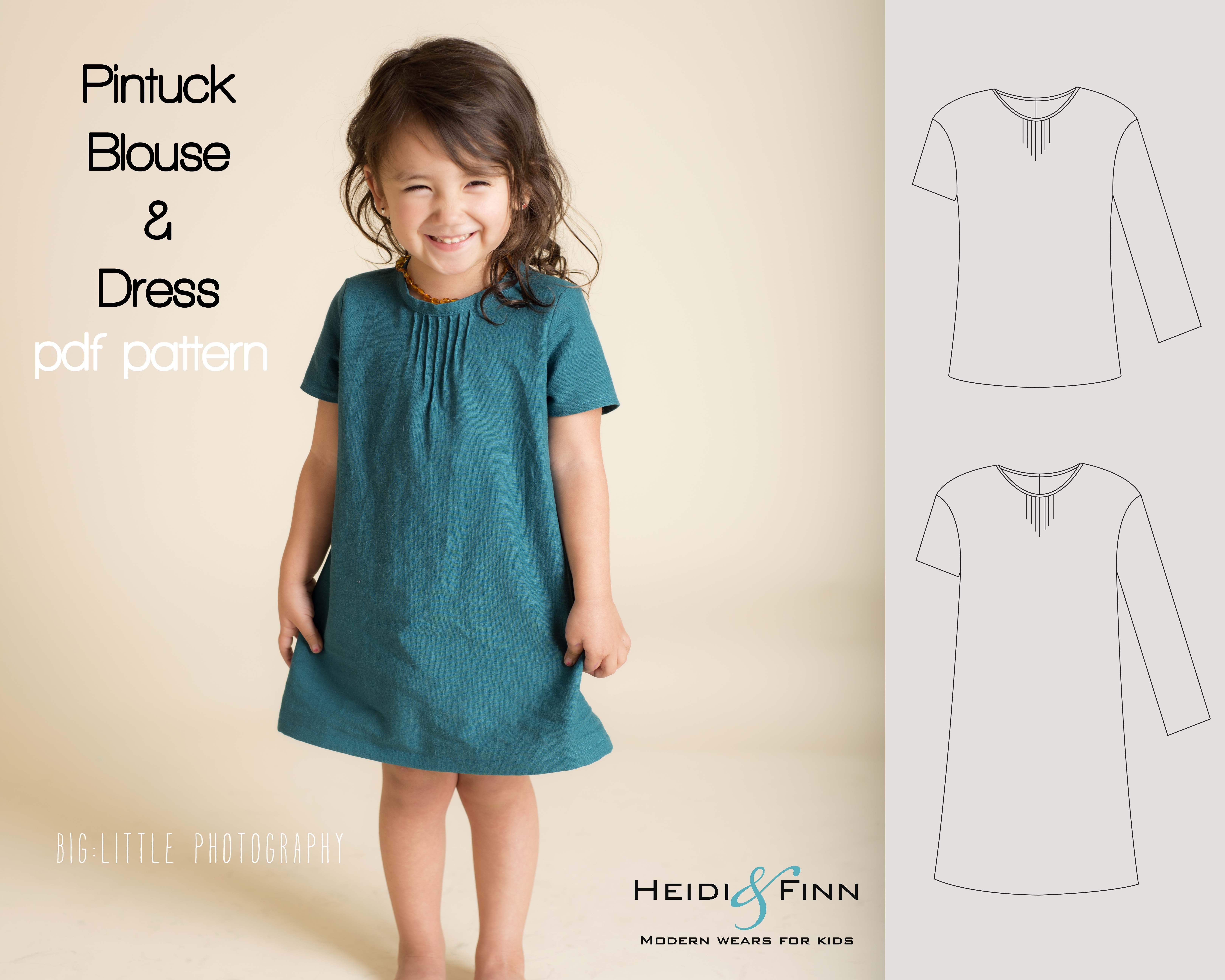 Httpsetsylisting181306848pintuck blouse and dress httpsetsylisting181306848pintuck pattern sewinggirl jeuxipadfo Image collections