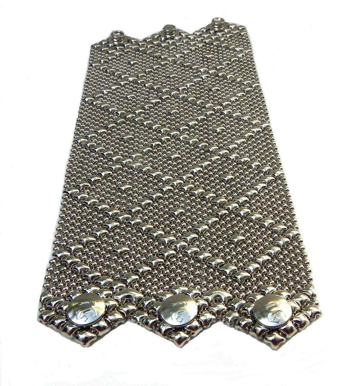 ab0a74a699b Sergio Gutierrez Liquid Metal by SG Silver Wide Mesh Cuff Bracelet B11