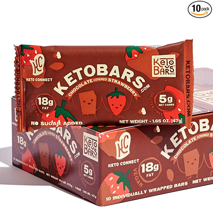 Keto Bars The Original Keto Snack Bar Gourmet Simple Ingredients Low Carb No Sugar Rich In Ketogenic Keto Bars Low Carb Bars Chocolate Covered Strawberries