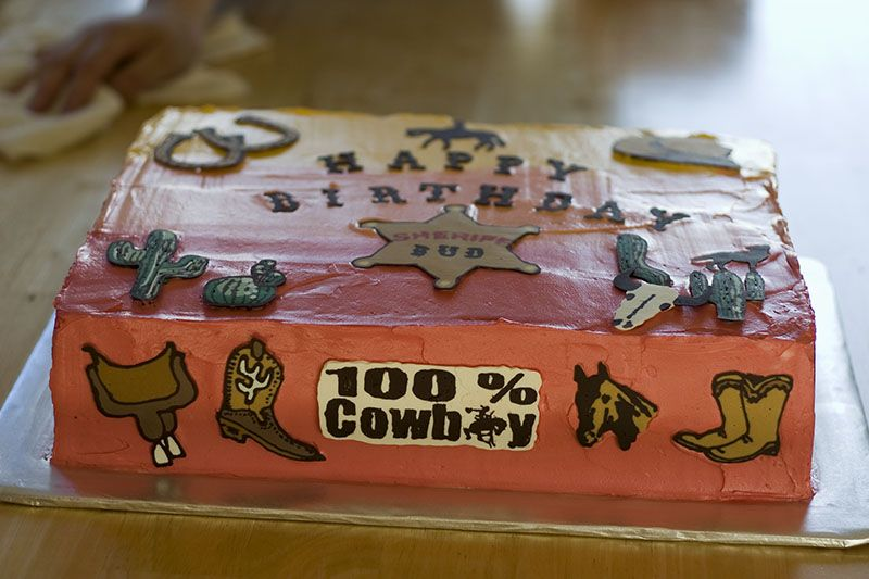 Cowboy Birthday Cake Format Star Small Pic