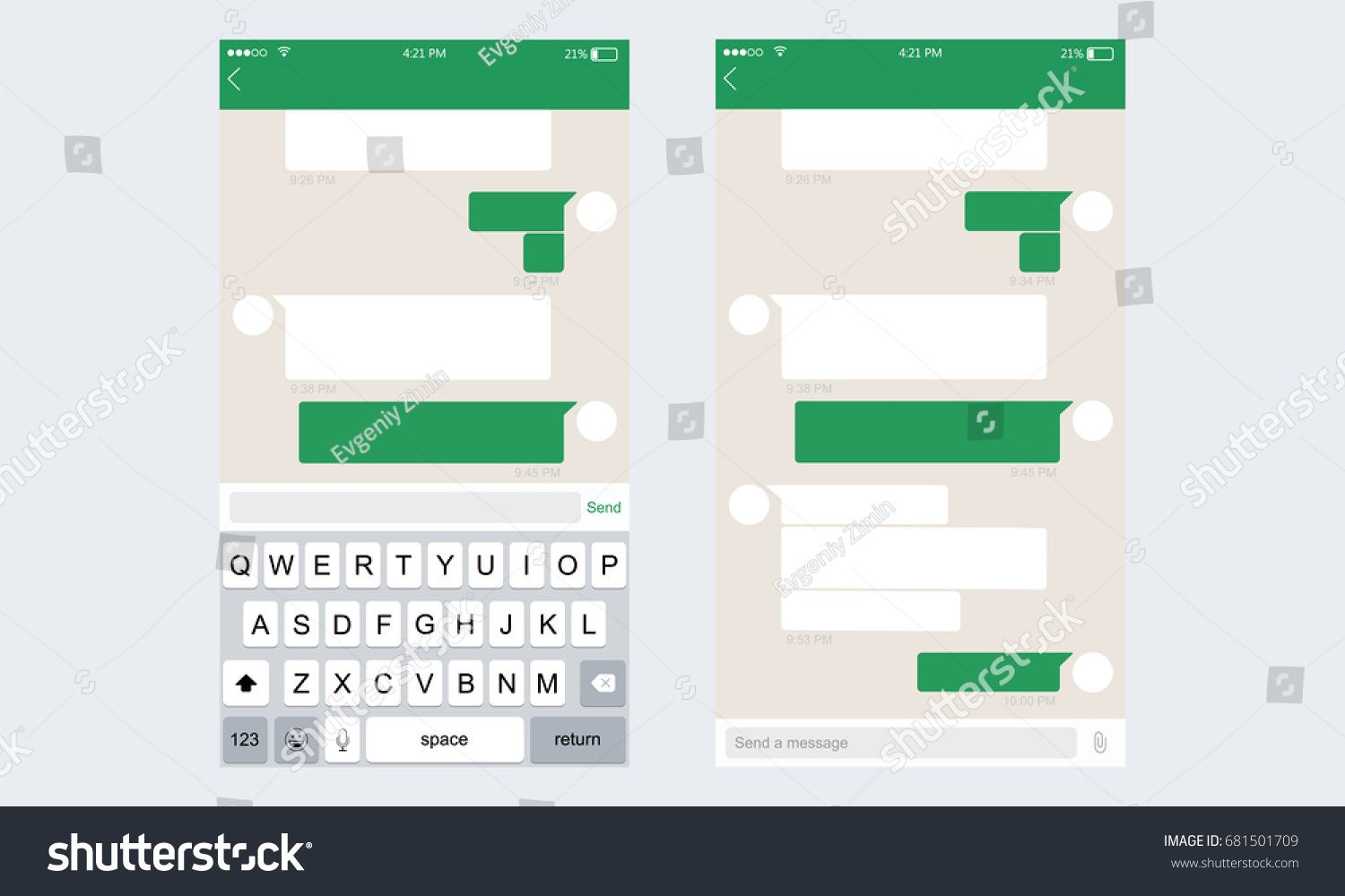 With the vibrant layout or the trendy logos, identifying the top rated applications becomes easy over the online stores. Whatsapp Chat Mockup