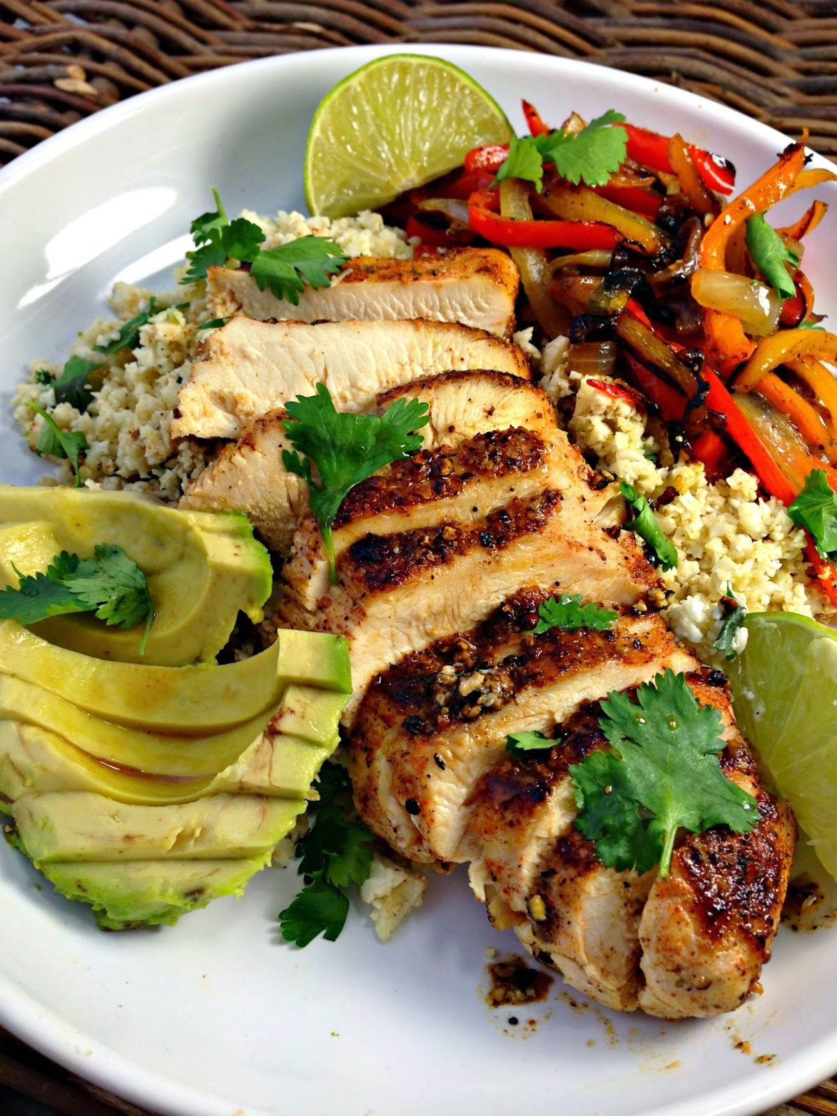 From Everyday To Gourmet Healthy Blackened Chicken Fajitas With Cilantro Lime Cauliflower Rice