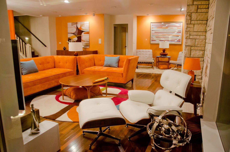 hervorragende 25+ moderne orange wohnzimmer farbschemata