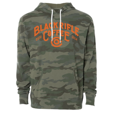 BRCC Great Outdoors Logo Pullover Hoodie Camo w/Orange