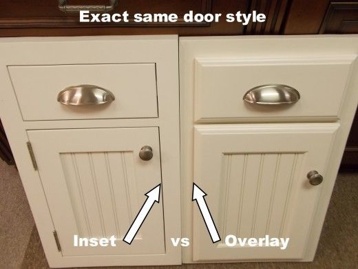 inset and overlay door comparison & Inset Kitchen Cabinets...Beaded Inset vs Plain Inset | Pinterest ...