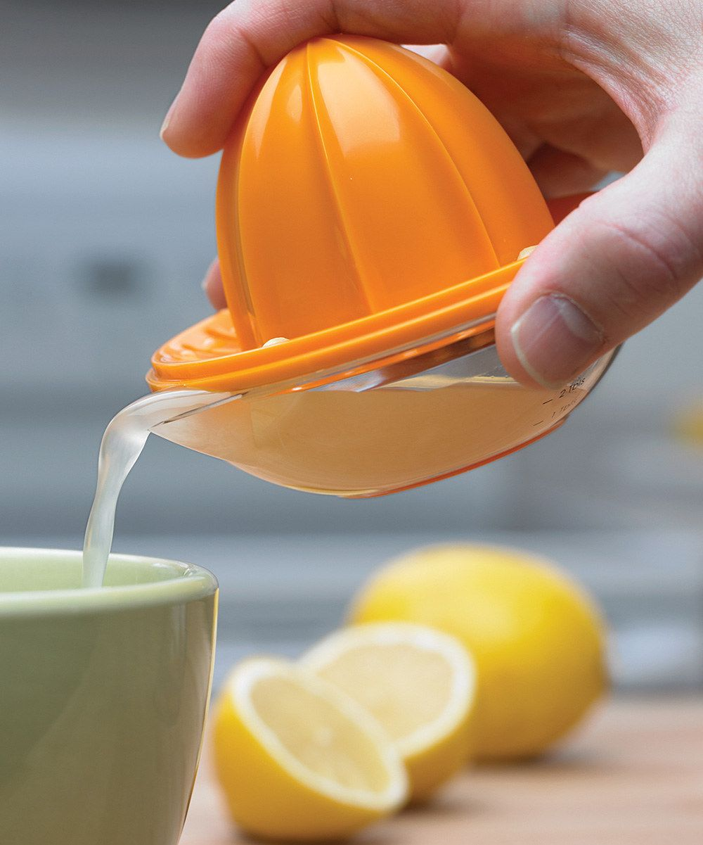 Plastic Fruit Juicer Squeezer With Measuring Jug Assorted Colours