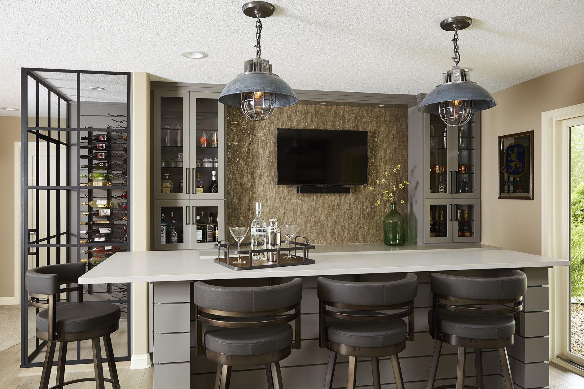 Basement Design For Entertaining, Glass Wine Cellar, Black Framed Glass,