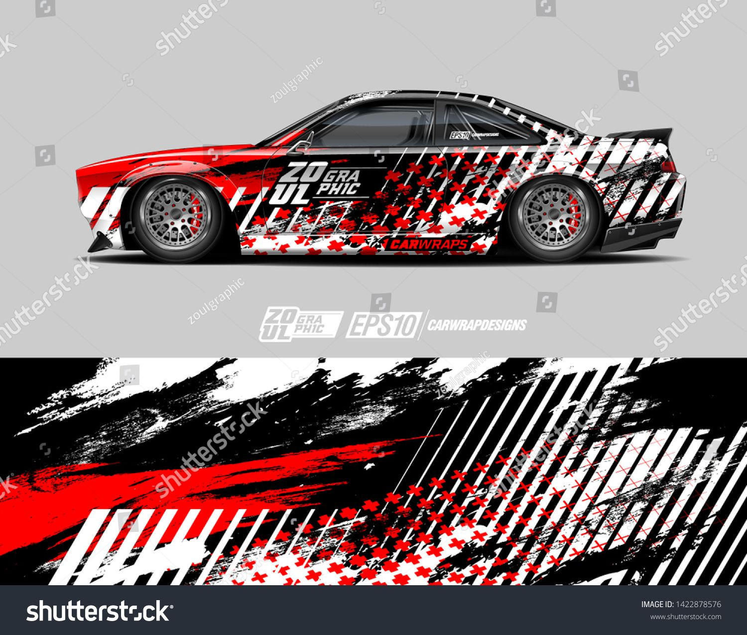 Car Wrap Decal Design Concept Abstract Grunge Background For Wrap
