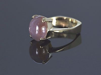 5000-14K-Yellow-Gold-Cabochon-Pink-Star-Sapphire-Purple-Cocktail-Ring-Band-5-75