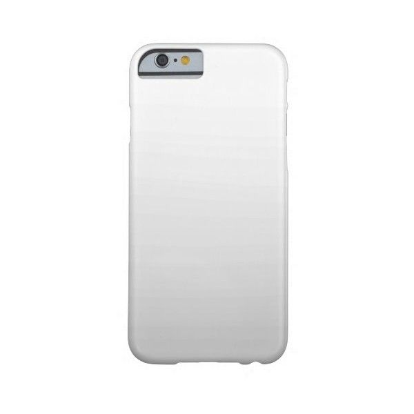 Simple White Gray Ombre Plain iPhone 6 Case ($43) ❤ liked on Polyvore featuring accessories and tech accessories