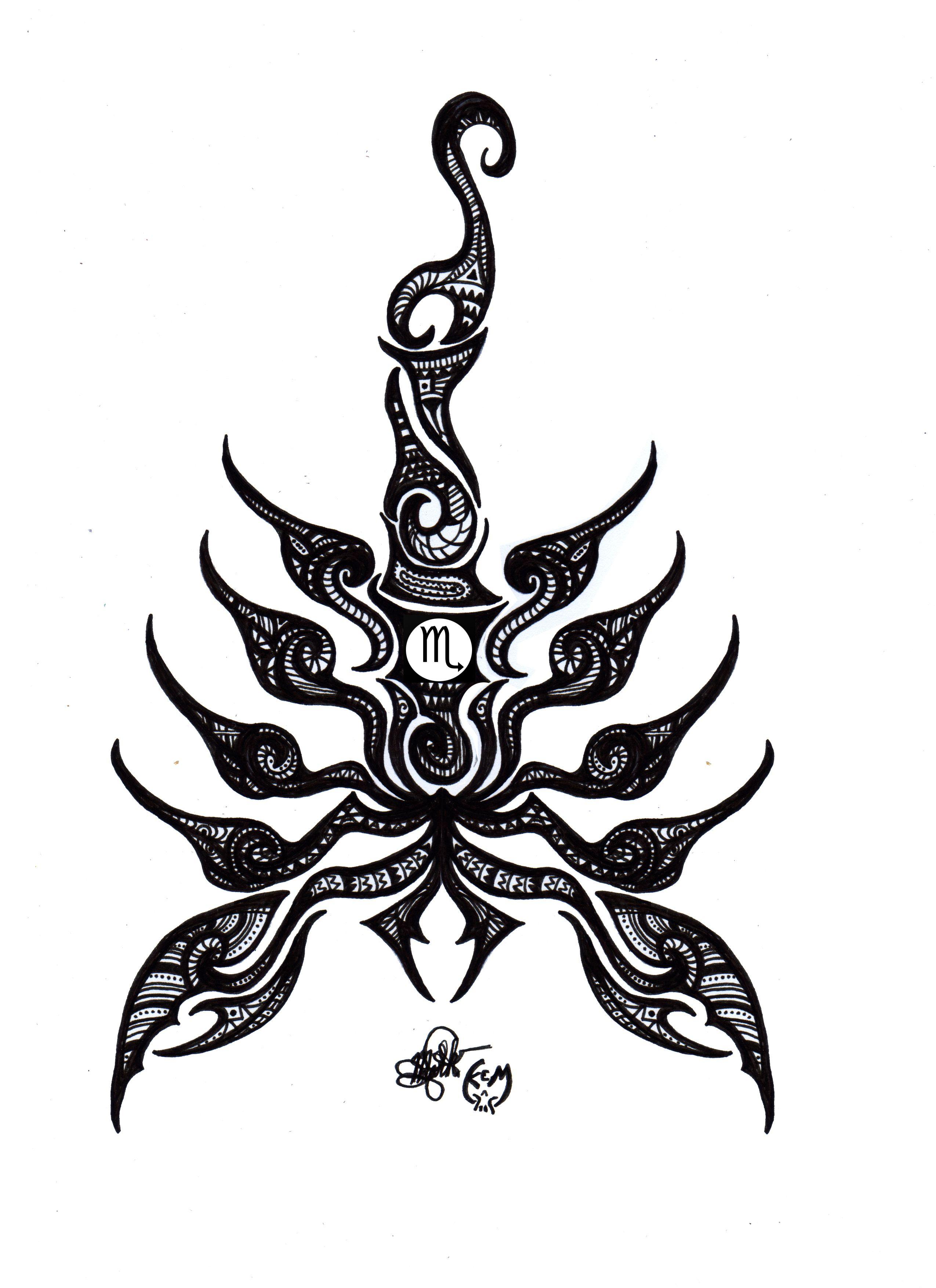 Scorpio Tribal Scorpio Zodiac Tattoos Scorpion Tattoo Tattoos