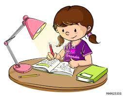 Resultado de imagen de niña estudiando