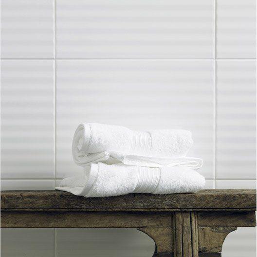 Carrelage mural Rubix lignes ARTENS en faïence, blanc blanc n°0, 30