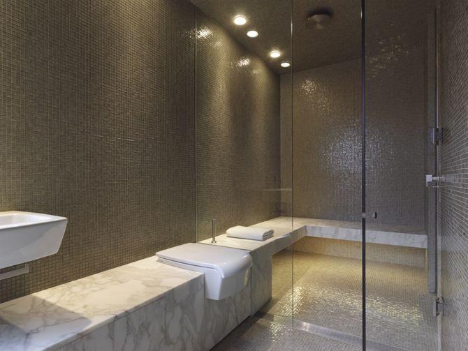 Luigi Rosselli  Great Bathroom  Love The Calcutta Marble Shelf Amazing Great Bathroom Ideas Decorating Inspiration