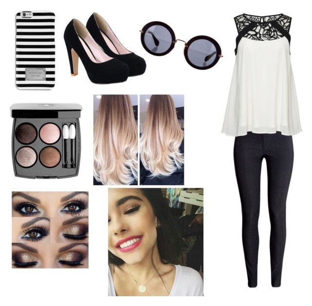 """""""Party with Madi!"""" by saraaaaaah4812 ❤ liked on Polyvore featuring H&M, ONLY, MICHAEL Michael Kors, Chanel and Miu Miu"""