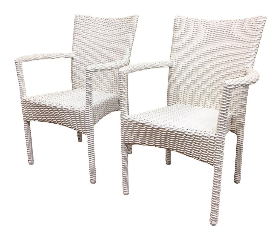 Desire To Santa Barbara Stacking Patio Dining Chair Set Of 2 By