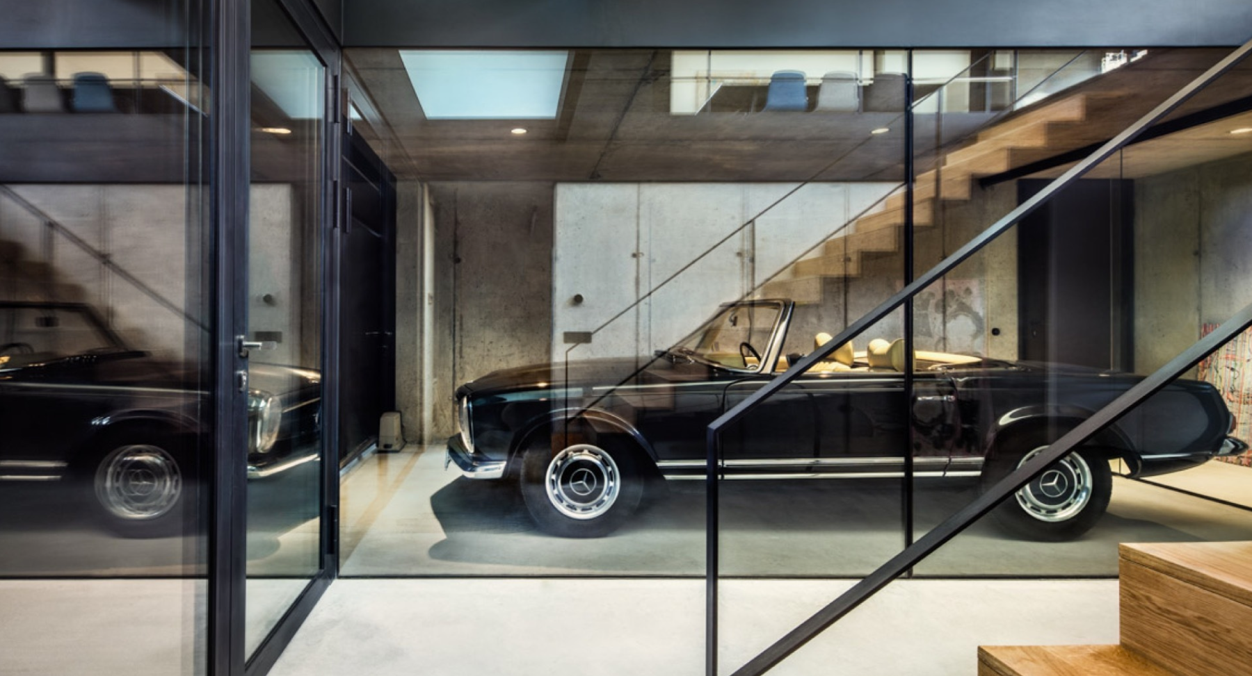 This Timber-Clad Home Features Classic Car Views Inside Its Built-In ...