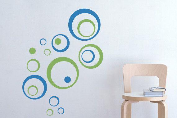 Walll Decals Funky Circles Vinyl Wall Stickers Art Graphics