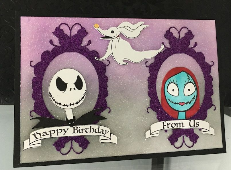 Nightmare Before Christmas Birthday Card Christmas Birthday