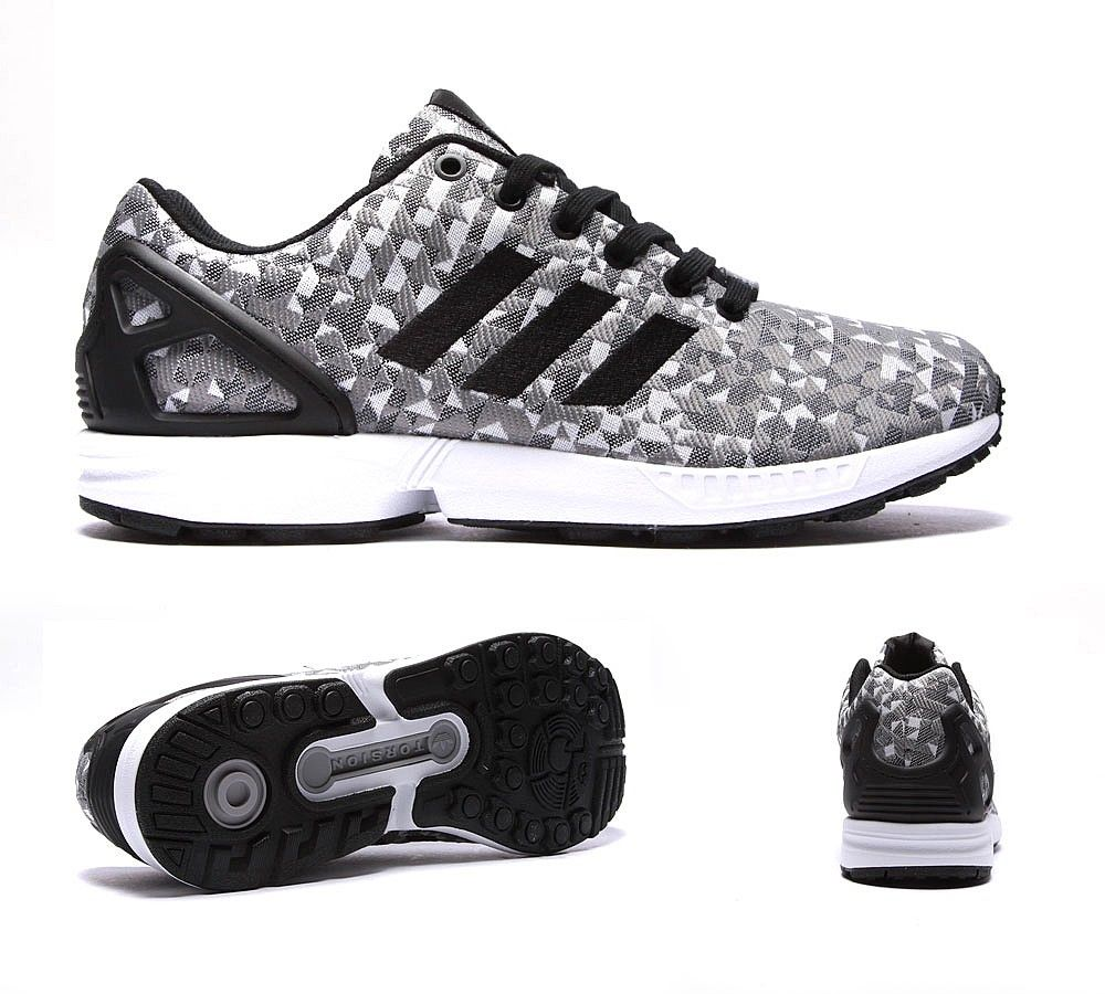 adidas Originals ZX Flux Weave Trainer | White Black