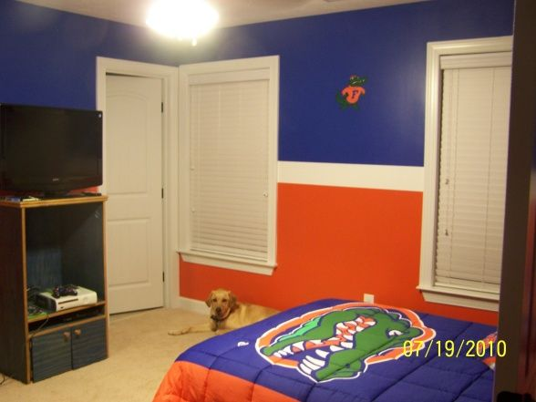 Blue and orange room designs florida gators room boys for Blue and orange room