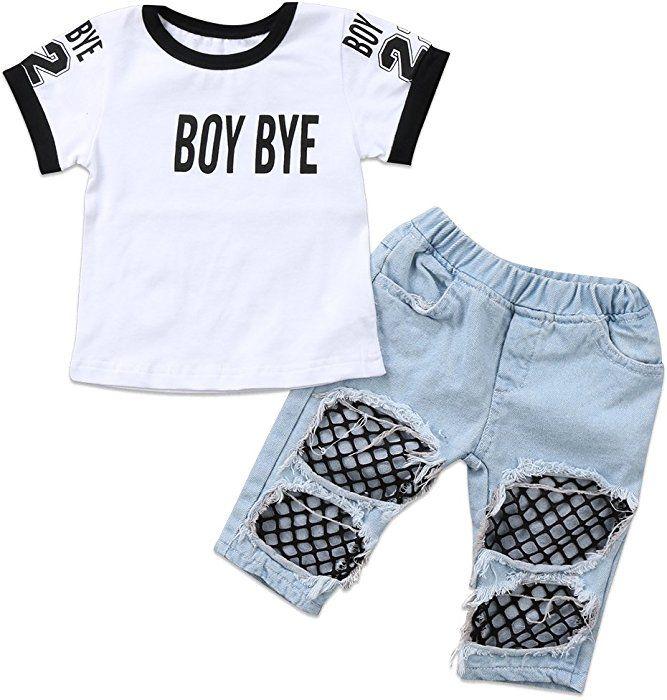 e0a14d4f343a Amazon.com  Emmababy Kids Baby Girls T-Shirt Tops Summer Autumn Mesh ...