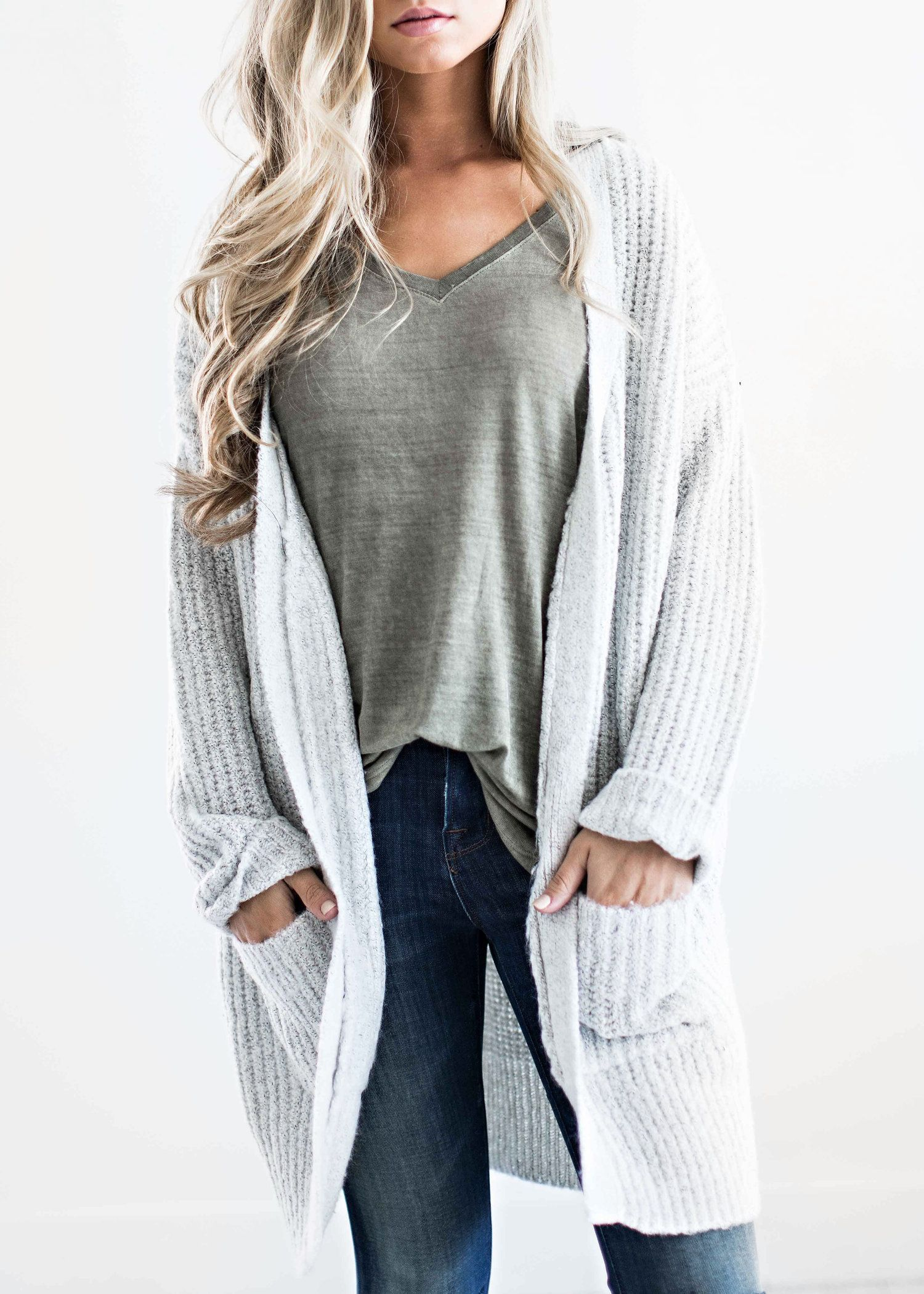 sweaters, light grey sweater, fall fashion, womens fashion, shop ...