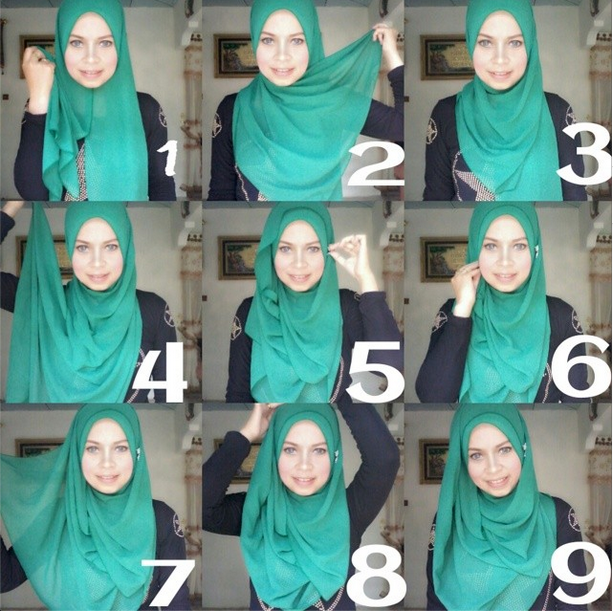This Hijab Tutorial Is So Easy Simple And Looks Classy It S Secure And Covers The Chest He Hijab Fashion Inspiration Hijab Style Tutorial Hijab Style Casual