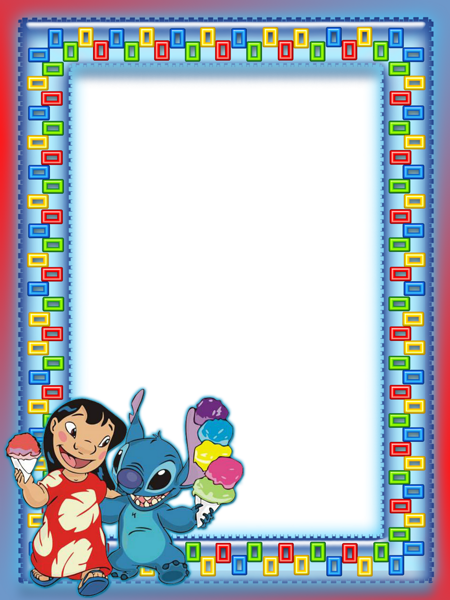 Lilo And Stitch Kids Transparent Photo Frame | Imágenes cuadros ...