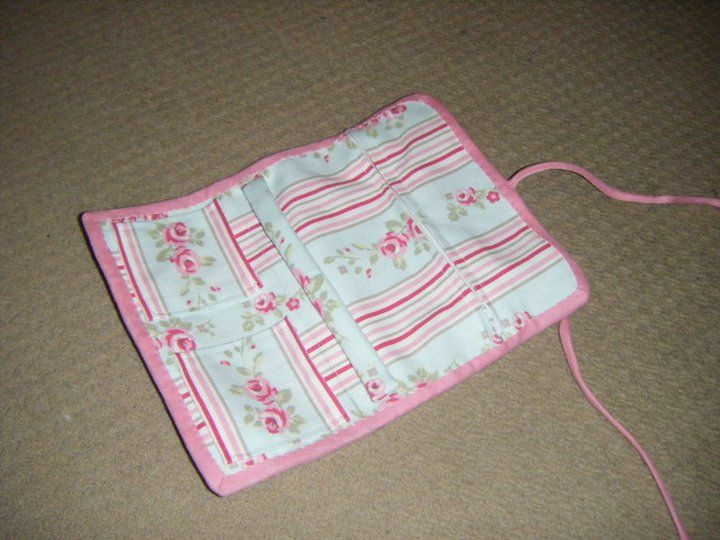 Jewellery roll - made from pattern in Cath Kidston \