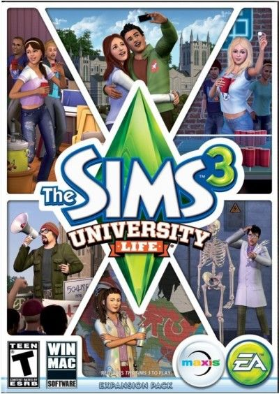 The Sims 3 University Life PC/Mac Download - Official Full