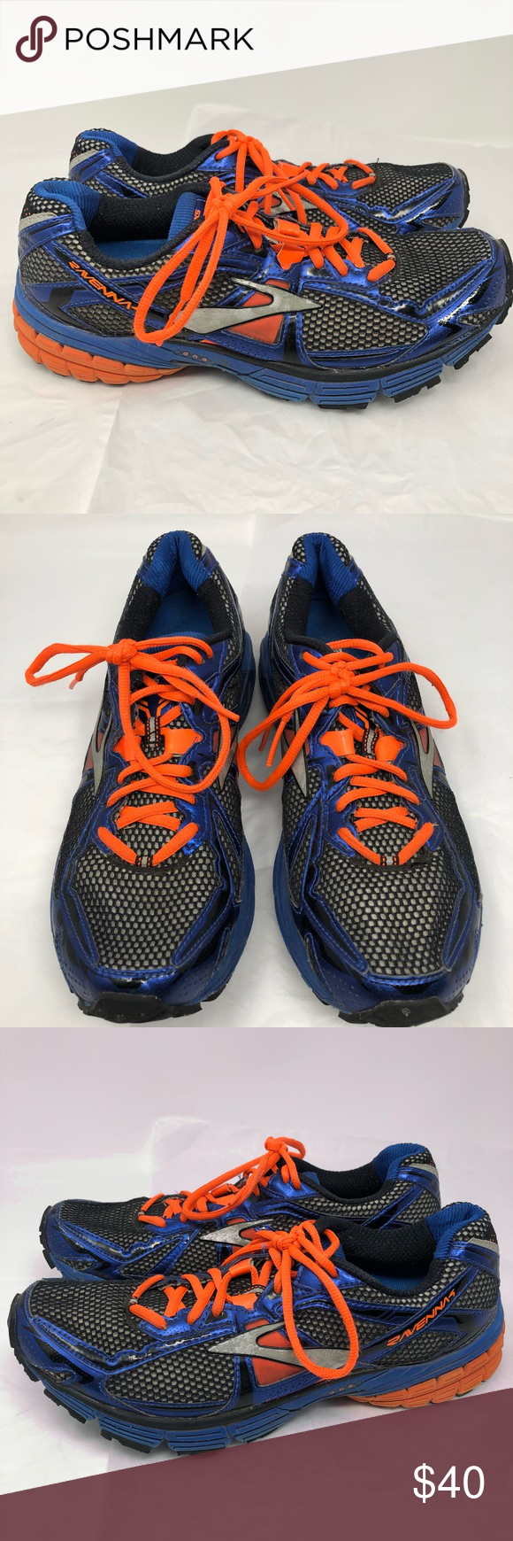 7f079ad61d2 Brooks Ravenna 4 Blue Black Orange Tennis Shoe 9.5 Very good used condition.  Please see photos for details. Brooks Shoes Athletic Shoes