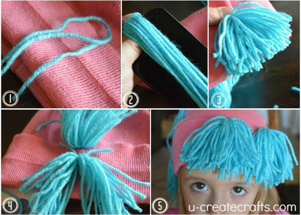 Easy Raggedy Yarn Wig Tutorial U Create Yarn Wig Hair Yarn Diy Rag Dolls
