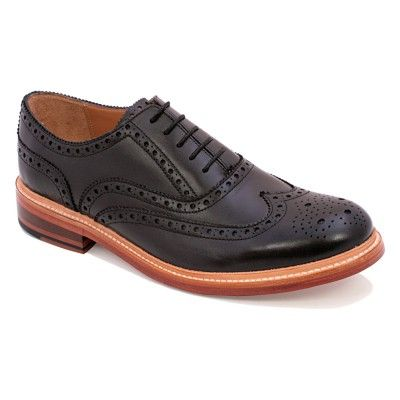 Chapman and Moore Black Durham - Oxford Brogue with a contrasting natural welt and Goodyear welted leather soles.