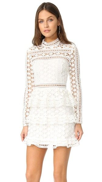 90c478301282 Self Portrait High Neck Star Lace Dress