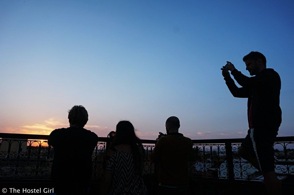 Making friends while travelling - sunset family time at Equity Point Marrakech 04